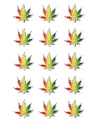 Design Sheet edible image Marijuana leaf