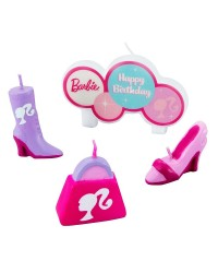 Barbie candle set of 4