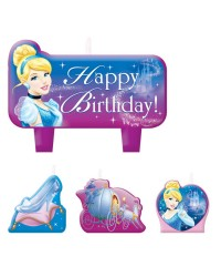 Cinderella Disney Princess candle set of 4