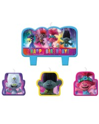 Trolls world Tour candle set of 4