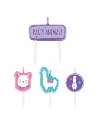 Llama fun pick candle set of 4