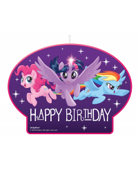 My little pony friendship large feature birthday candle
