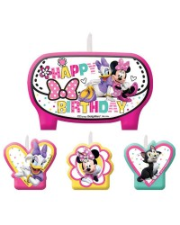 Minnie Mouse and Friends candle set of 4