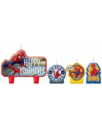 Spiderman candle set of 4