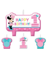 Minnie Mouse 1st Birthday candle kit set of 4