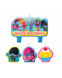 Trolls candle set of 4 style no 2