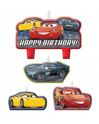 Cars Lightning McQueen candle set of 4 style no 3