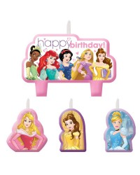 Disney Princess set 4 candles style no 2