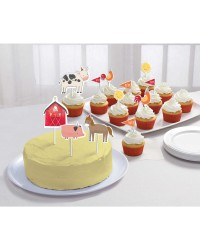Barnyard farm cake topper decorating kit