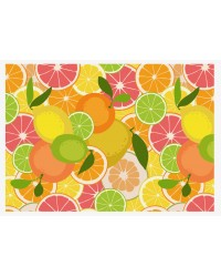 A4 Edible icing image Citrus fruits pattern