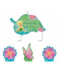 Tinkerbell Disney Fairies candles set of 4