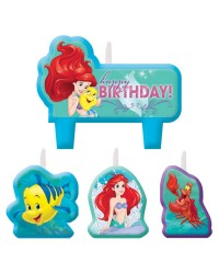 Ariel the Little Mermaid Disney Princess candle set 4 style no 2