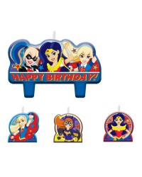DC SUPERHERO GIRLS BIRTHDAY CANDLE SET 4