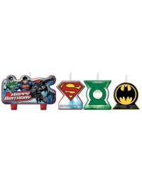 Justice league candles set of 4