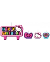 Hello Kitty candles set of 4