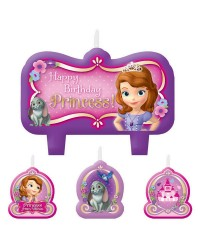 Sofia the First candles set of 4