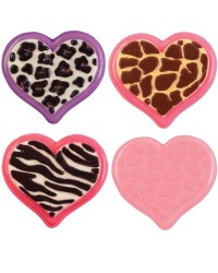 Heart shape with animal print chocolate mould