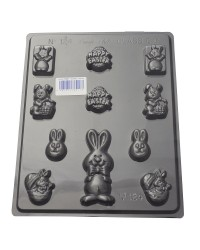 Easter bunny variety chocolate mould