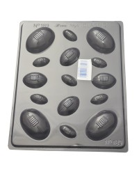 Rugby ball balls chocolate mould asstd sizes