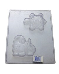 Dinosaur and turtle chocolate mould