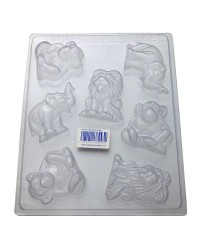 Zoo or Jungle safari animals chocolate mould style 2