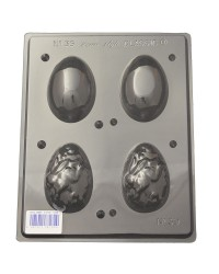 Easter eggs 3d with bunny chocolate mould