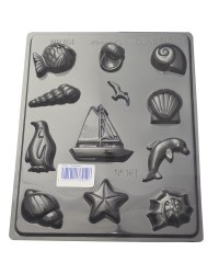 Seaside ocean and beach theme chocolate mould