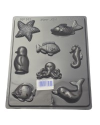 Sea Creatures chocolate mould fish starfish penguin seahorse