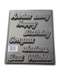 Script Greetings chocolate mould