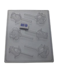 Roses and buds lollipop chocolate mould