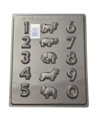 Numbers with Zoo animals chocolate mould