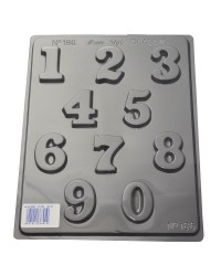 Numbers 0 to 9 style 2 chocolate mould
