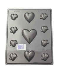 Hearts variety chocolate mould