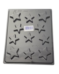 Stars asstd chocolate mould