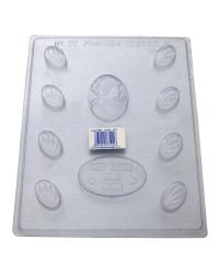 We Love you Mum chocolate mould with cameo and leaf truffles