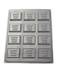 Enjoy your stay appreciation chocolate mould