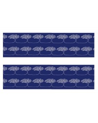 A3 Edible icing image sheet Blue Tree border strips