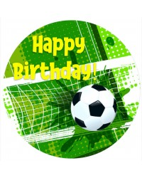 Edible icing image Soccer Happy Birthday