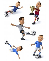 Character edible icing image sheet Soccer players