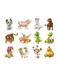 Character edible icing image sheet Animals