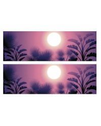 A3 Edible icing image sheet Tropical or Native trees Sunset