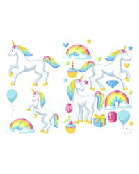 Character edible icing image sheet Unicorns