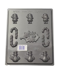 Christmas asstd chocolate mould Merry Christmas Holly