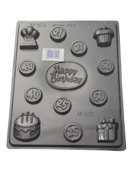 Birthday Celebrations age cake balloons chocolate mould
