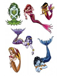Character edible icing image sheet Mermaid (adult)
