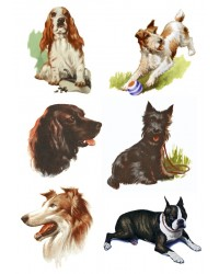 Character edible icing image sheet Vintage Dogs