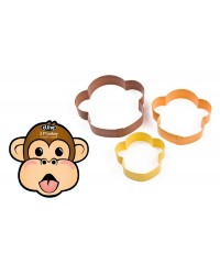 Nesting set of 3 monkey cookie cutters