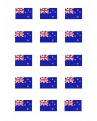Design Sheet edible image Scenes of New Zealand Flag