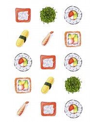 Design Sheet edible image Sushi