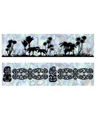 A3 Edible icing image sheet Native Bush and Tiki by ibicci